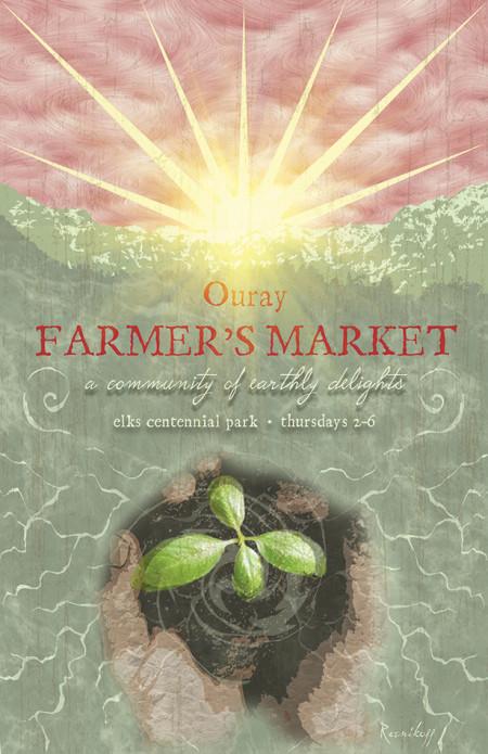 Ouray Farmer's Market Poster